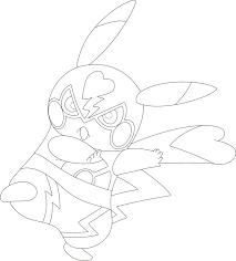 lineart of pikachu libre by inukawaiilover on deviantart