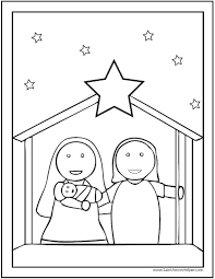 coloring page angel visits joseph mary and joseph coloring pages download angel visits mary and joseph