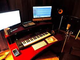 studio keyboard desk studio trends 46 in studio desk with dual 4u racks cherry