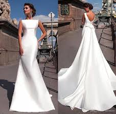 discount 2017 charming satin wedding dresses cheap with