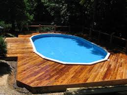 Backyard Landscaping Ideas With Above Ground Pool Pool Lovely Image Of Backyard Landscaping Decoration Using Oval