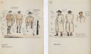 sketch for the abbey theatre costume designs for darcy by jack