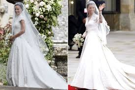 matching wedding dresses pippa vs kate middleton how the royal wedding compared from