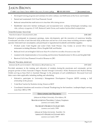 Private Chef Resume Resume Example Of Chef Resume