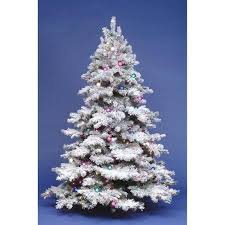 buy 5 ft flocked alpine pre lit tree in cheap price on