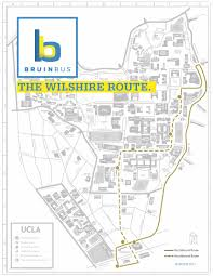 Map Of Ucla New Stops Added To Bruinbus Wilshire Route
