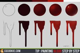 tip painting blood step by step by cgcookie on deviantart