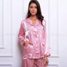 womens silk satin pajamas set pyjamas pjs set sleepwear set