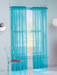 no 918 calypso 59 by 63 inch sheer voile curtain panel sky blue