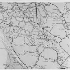 Sonoma State Map by Calisphere Map Of Southern Sonoma County And Northern Marin