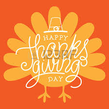 happy thanksgiving day vector illustration with lettered