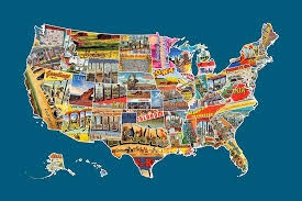 map usa all states postcards of the united states vintage usa all 50 states map mixed