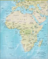 Trans America Trail Map by Physical Map Asia And Africa World Map Pinterest