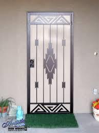 santa fe southwest style wrought iron security screen door