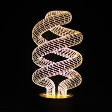Led Light Bulbs Ebay by Spiral Shape 3d Illusion Bulb Lamp Led Night Light Usb Table Desk