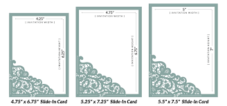 Invitation Cards Size How To Diy Laser Wedding Invitations With Slide In Cards Cards