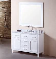 single sink vanity with drawers adorna 48 inch single sink bathroom vanity set carrera white top