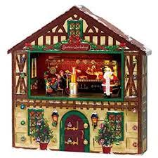 lighted santa s workshop advent calendar amazon com mr christmas animated musical santa s workshop advent