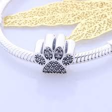 pandora bracelet charms sterling silver images 925 sterling silver paw print charm to fit pandora bracelet 100 jpg