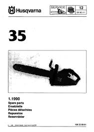 husqvarna 35 parts list 1990 06 online manuals