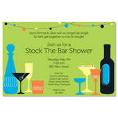 stock the bar invitations stock the bar bridal shower invitations cocktail bridal shower