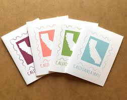 California Gifts The Little Things Cards Prints State By Littlethingsworkshop