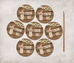thank you tags thank you tags printable jar favor tags rustic thank