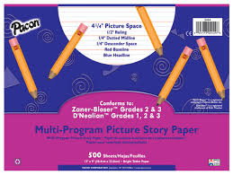 D Nealian Handwriting Worksheets Picture Story Ruled Pacon Creative Products
