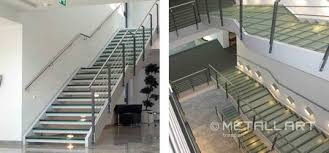 stahl treppe glastreppen treppen mit glasstufen für mehr transparenz metallart