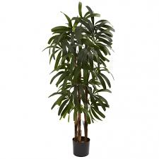 4 foot artificial raphis palm tree potted 5401