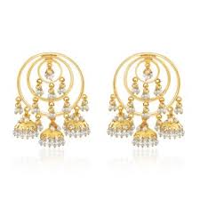 jhumki earring spargz traditional gold plated beautiful pearl design jhumki