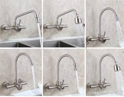 modern bathroom wall mounted kitchen sink faucet swivel spout