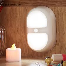 light and battery store mini led double ring lights night light motion activated sensor