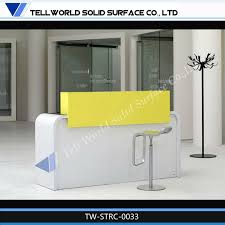 Marble Reception Desk Tw Modern Best Selling Mini Salon Artificial Marble Reception Desk