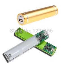 diy phone charger diy 1 18650 cylinder metal portable external battery mobile phone