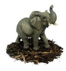 trumpeting elephant resin garden ornament 26 59 garden4less
