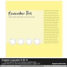free scrapbook template more katie pertiet