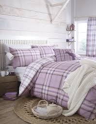 catherine lansfield kelso double duvet set heather amazon co uk