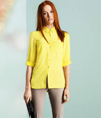 yellow blouse lyst h m blouse in yellow