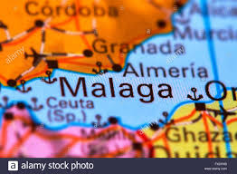 Spain On A World Map by Malaga City In Spain On The Iberian Peninsula On The World Map