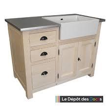 meuble de cuisine evier meuble de cuisine 3 tiroirs et 1 placard évier intégré le dépôt