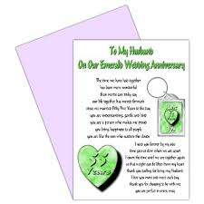 55th wedding anniversary buy husband 55th wedding anniversary card with removable keyring
