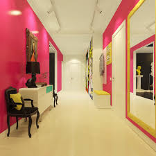 Home Design Interior Hall Modern Pop Art Style Apartment