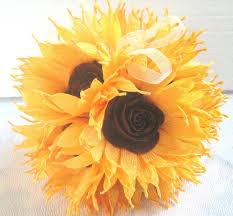 sunflower wedding hanging crepe paper flower balls pomander