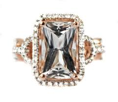 hand made very rare pink danburite u0026 diamond 14k rose gold