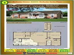 beaver homes floor plans beaver creek rochester modular home ranch plan price 1215 ft house