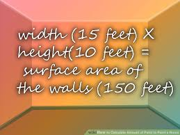 how to calculate amount of paint to paint a room 9 steps