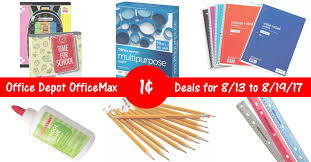 Office Depot by Office Depot Officemax Back To Deals For 8 13 To 8 19 17