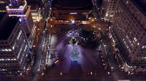 dji mavic pro flight over christmas tree in downtown portland