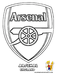 explosive soccer football colouring arsenal coloring pages